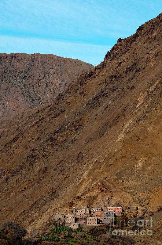 Morocco Print featuring the photograph High Atlas by Marion Galt