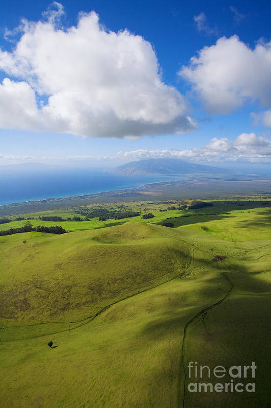 Aerial Print featuring the photograph Maui Aerial by Ron Dahlquist - Printscapes