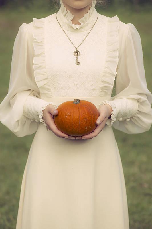 Woman Print featuring the photograph Pumpkin by Joana Kruse
