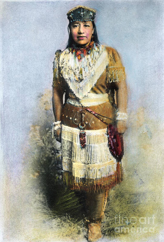 19th Century Print featuring the photograph Sarah Winnemucca by Granger