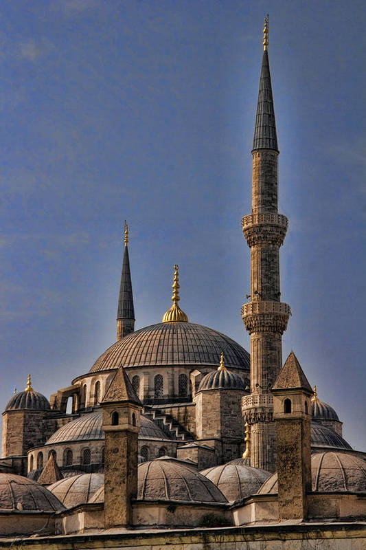 Turkey Print featuring the photograph The Blue Mosque In Istanbul Turkey by David Smith