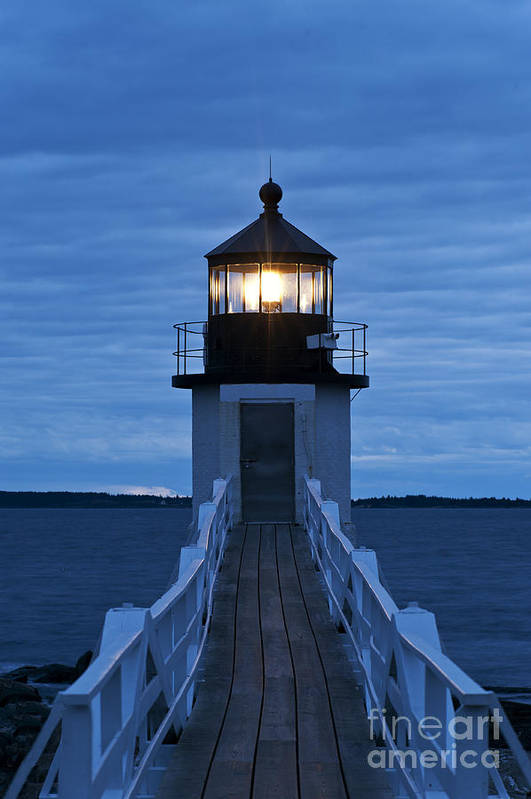 Maine Print featuring the photograph Marshall Point Light by John Greim
