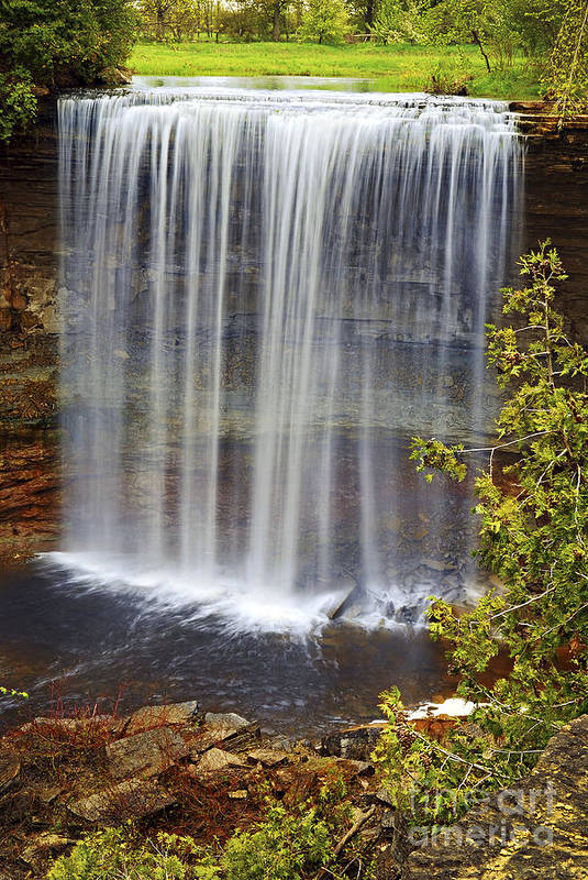 Waterfall Print featuring the photograph Waterfall by Elena Elisseeva