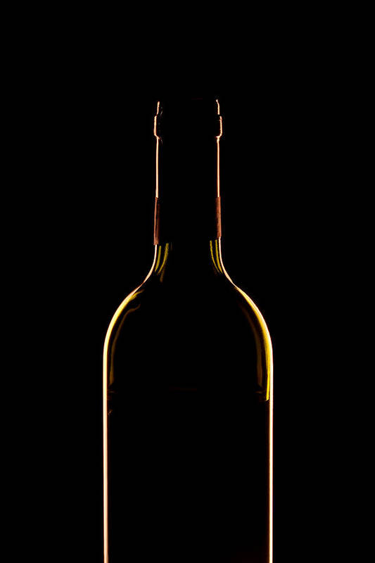 Wine Print featuring the photograph Bottle Of Wine by Andrew Soundarajan
