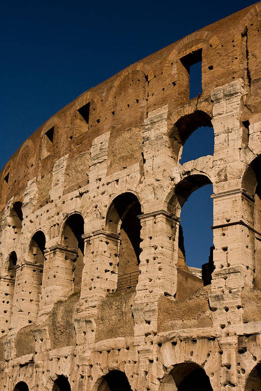 Rome Print featuring the photograph Colliseum 15 by Art Ferrier