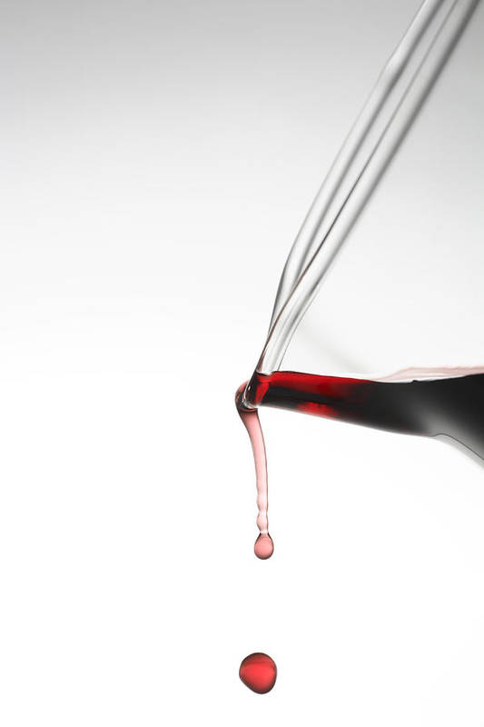Wine Print featuring the photograph Decanter by Frank Tschakert