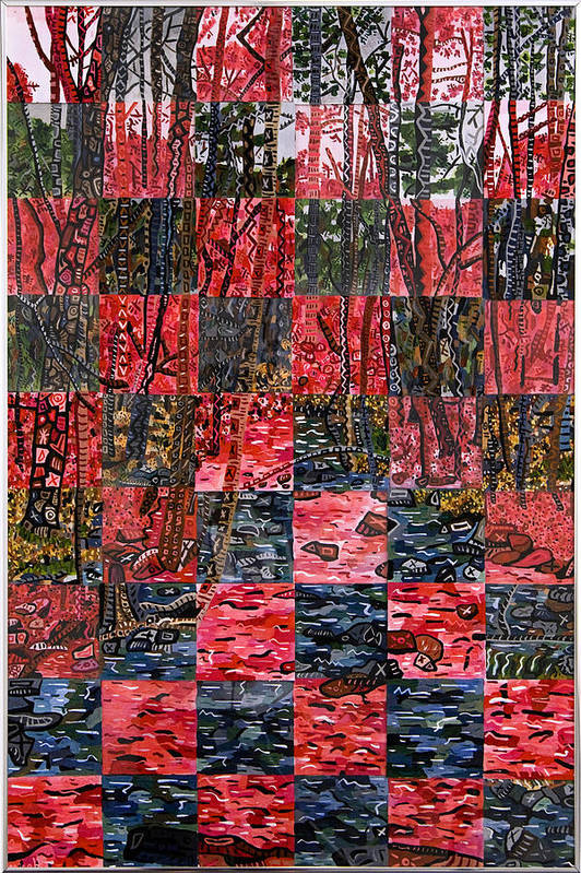 Duke Forest Print featuring the painting Duke Forest by Micah Mullen