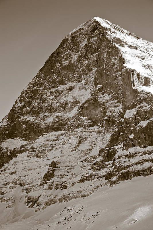 Frank Tschakert Print featuring the photograph Eiger North Face by Frank Tschakert