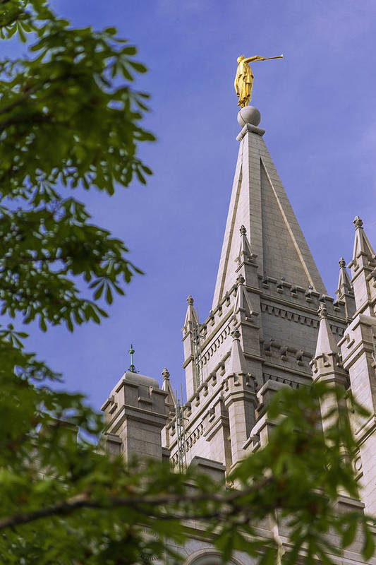 Mormon Print featuring the photograph Holy Temple by Chad Dutson