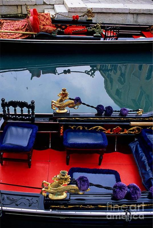 Venice Print featuring the photograph Inside Gondola In Venice by Michael Henderson