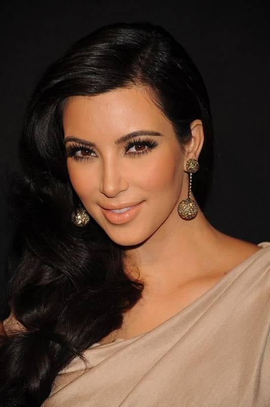 Kim Kardashian Print featuring the photograph Kim Kardashian In Attendance by Everett