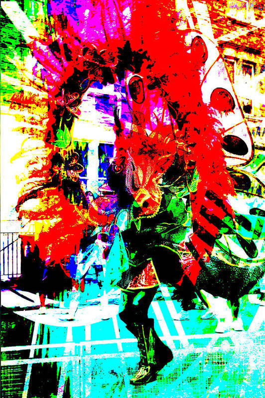 Abstract Print featuring the photograph Madi Gras by Brian Roscorla