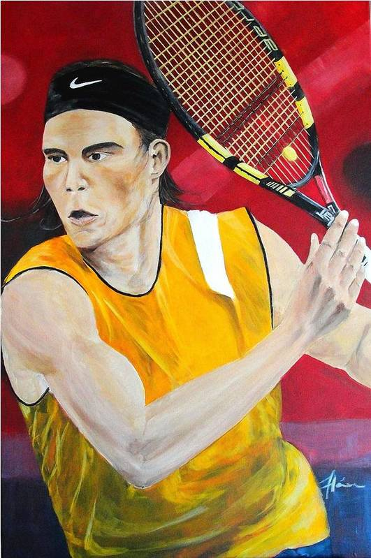 Rafael Print featuring the painting Nadal by Flavia Lundgren
