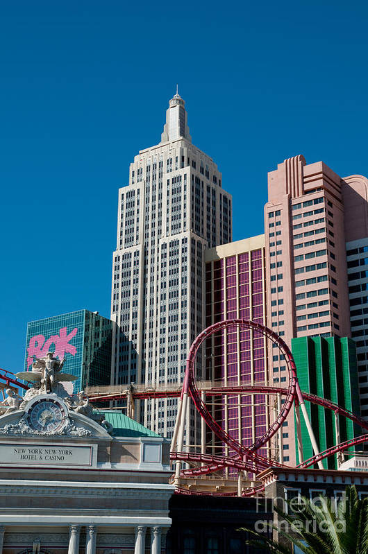 Las Vegas Print featuring the photograph New York New York Hotel by Andy Smy
