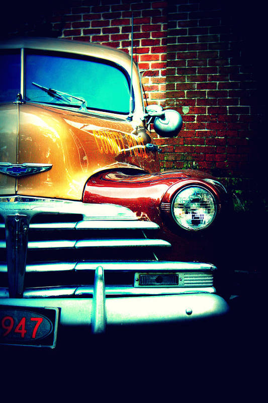 Cars Print featuring the photograph Old Savannah Police Car by Dana Oliver
