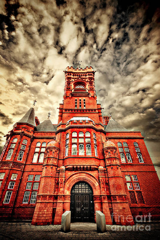 Pierhead Print featuring the photograph Pierhead by Meirion Matthias