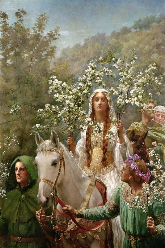 Queen Print featuring the painting Queen Guinevere by John Collier