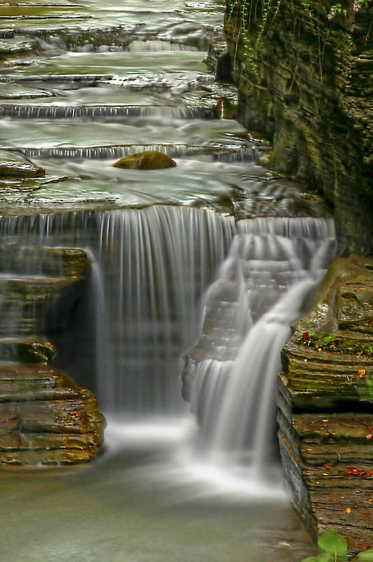 Waterfall Print featuring the photograph Smooth by Evelina Kremsdorf
