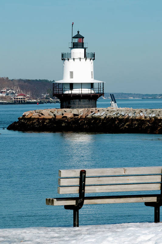 Coast Print featuring the photograph Spring Point Ledge Lighthouse by Greg Fortier