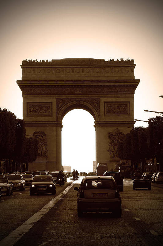 Streets Of Paris Print featuring the photograph Streets Of Paris by Kamil Swiatek