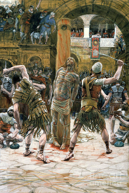 Whips Print featuring the painting The Scourging by Tissot
