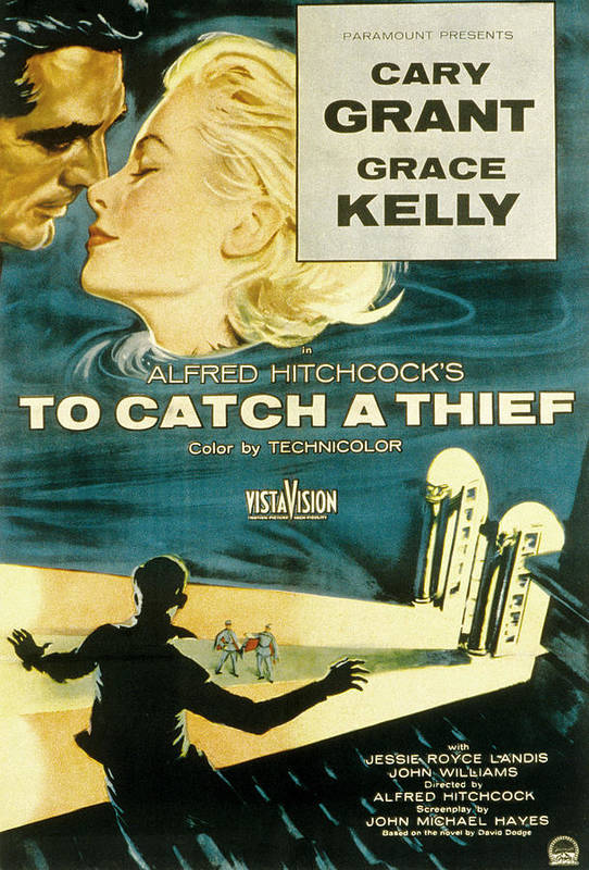 1950s Movies Print featuring the photograph To Catch A Thief, Poster Art, Cary by Everett