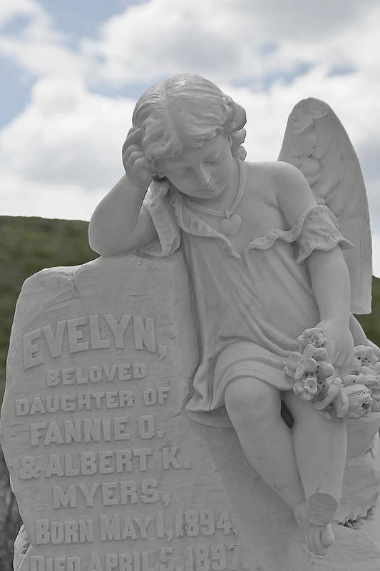 Bodie Print featuring the photograph Tombstone Angel For An Angel by Christine Till