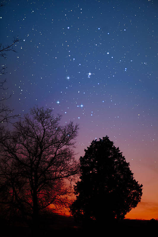 Stars Print featuring the photograph Twilight Transitions by Charles Warren