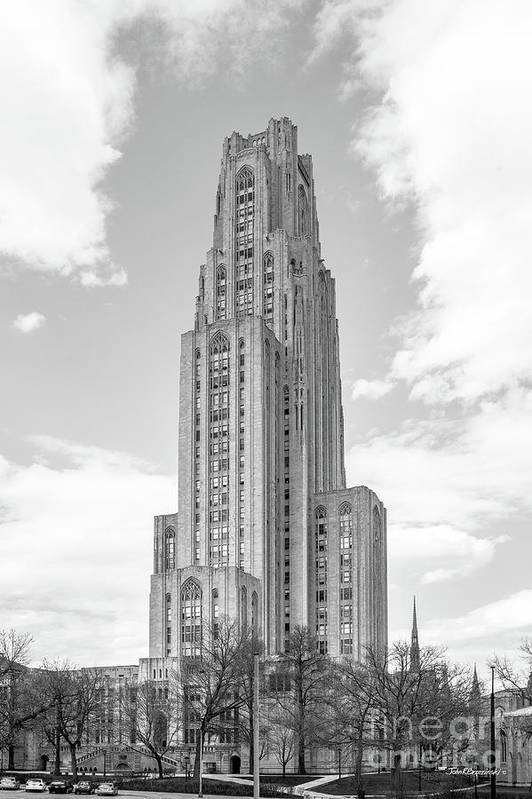 Aau Print featuring the photograph University Of Pittsburgh Cathedral Of Learning by University Icons