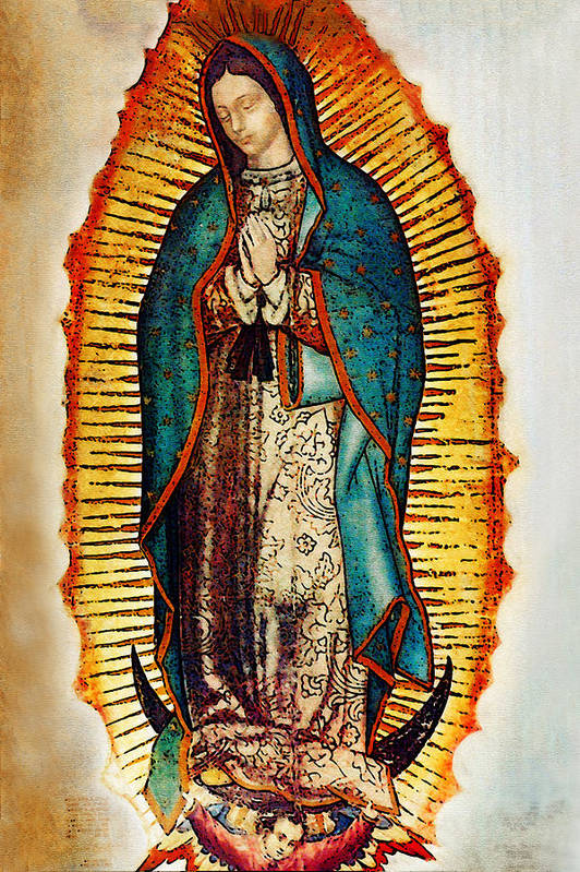 Virgin Mary Print featuring the photograph Virgen De Guadalupe by Bibi Romer