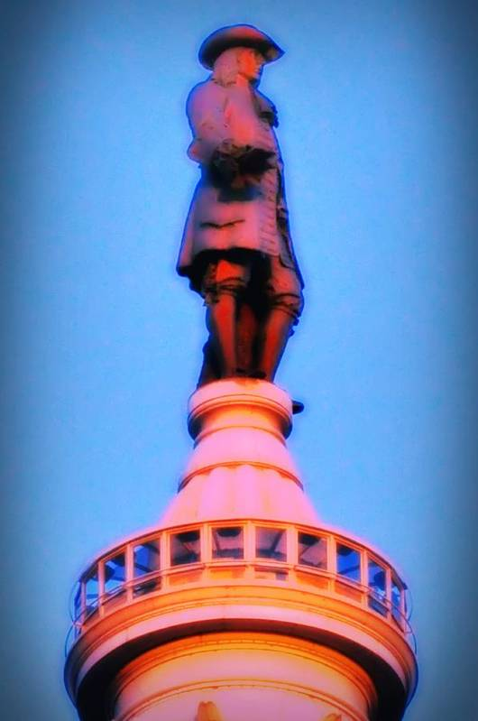 William Penn Print featuring the photograph William Penn - City Hall In Philadelphia by Bill Cannon