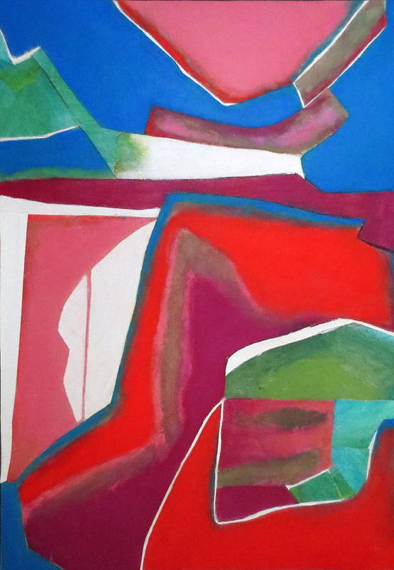 Abstract Expressionism Print featuring the mixed media Salsa by Diane Fine