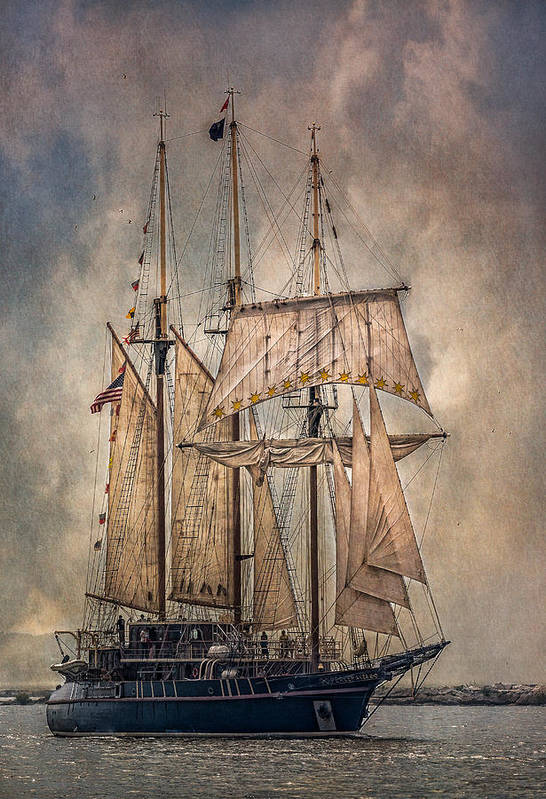 Peacemaker Print featuring the photograph The Tall Ship Peacemaker by Dale Kincaid