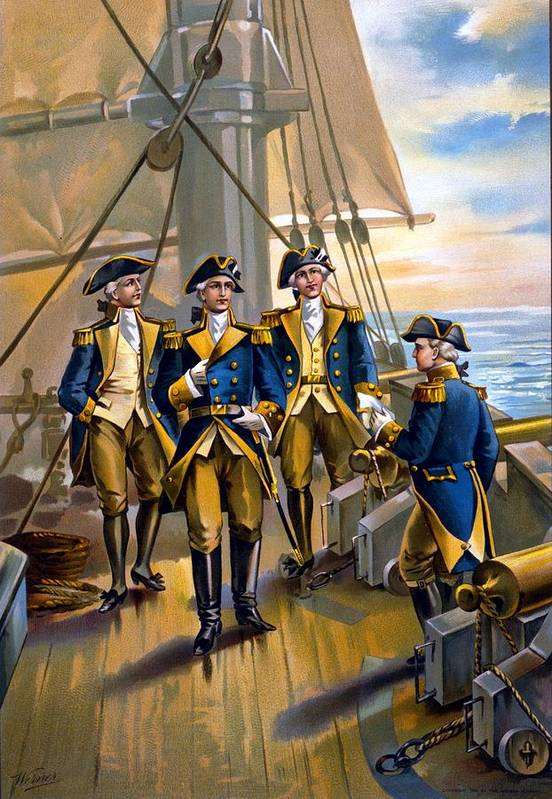 U.s. Navy - Commander In Chief Of Fleet - 1776 Print featuring the digital art U S Navy Commander In Chief Of The Fleet by The Werner Company