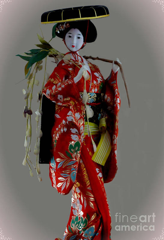 Al Bourassa Print featuring the photograph Geisha Elegance by Al Bourassa