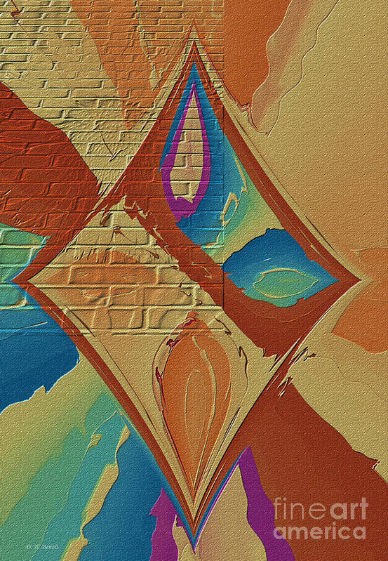 Abstract Print featuring the photograph Look Behind The Brick Wall by Deborah Benoit