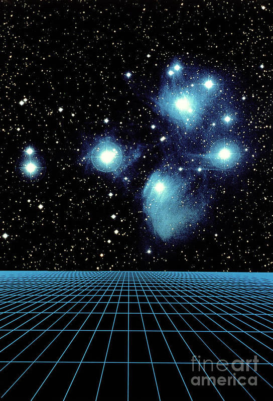 Astronomy Print featuring the photograph Pleiades In Taurus by Science Source