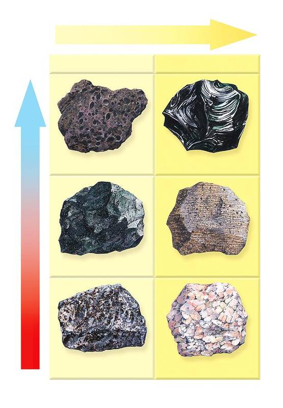 Scoria Print featuring the photograph Types Of Volcanic Rock by Gary Hincks