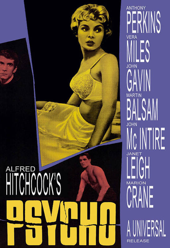 1960 Movies Print featuring the photograph Psycho, Anthony Perkins, Janet Leigh by Everett