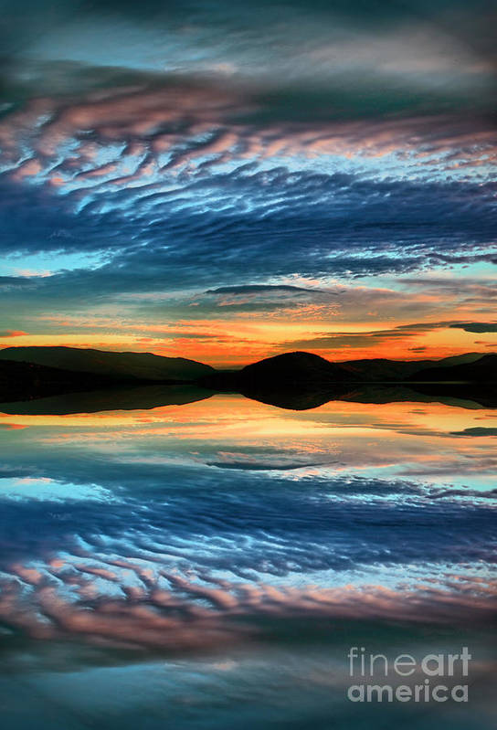 Sunset Print featuring the photograph The Brush Strokes Of Evening by Tara Turner
