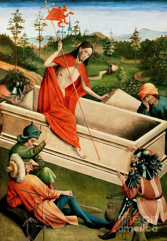 The Print featuring the painting The Resurrection by Johann Koerbecke
