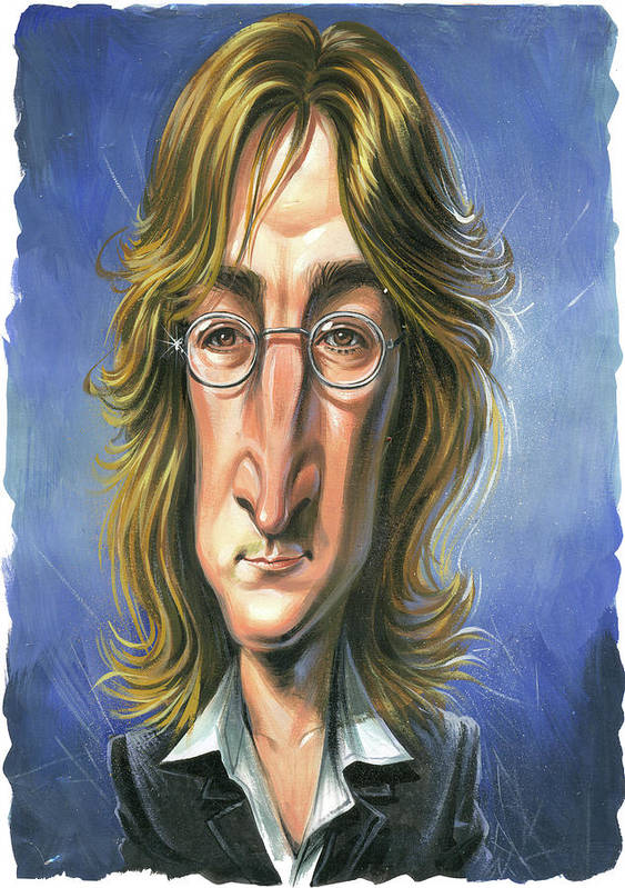 John Lennon Print featuring the painting John Lennon by Art