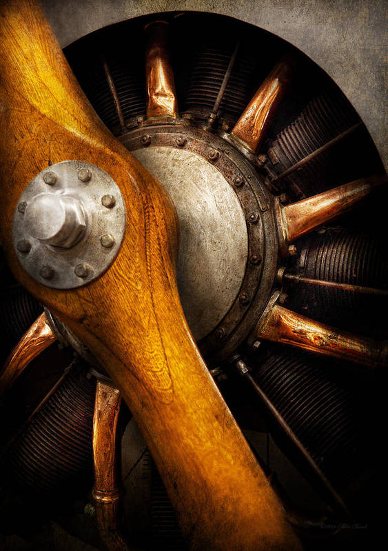 Propeller Print featuring the photograph Air - Pilot - You Got Props by Mike Savad