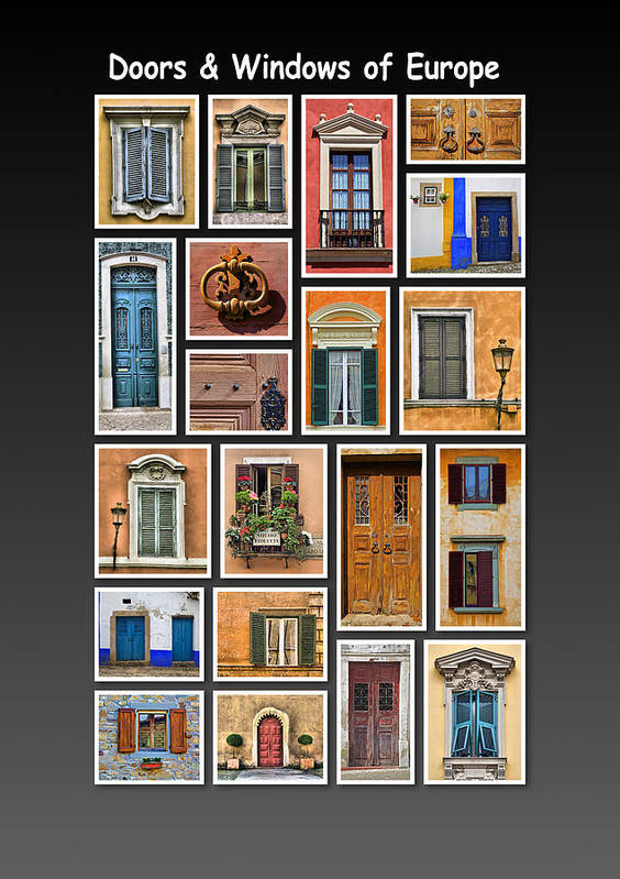 Doors Print featuring the photograph Doors And Windows Of Europe by David Letts