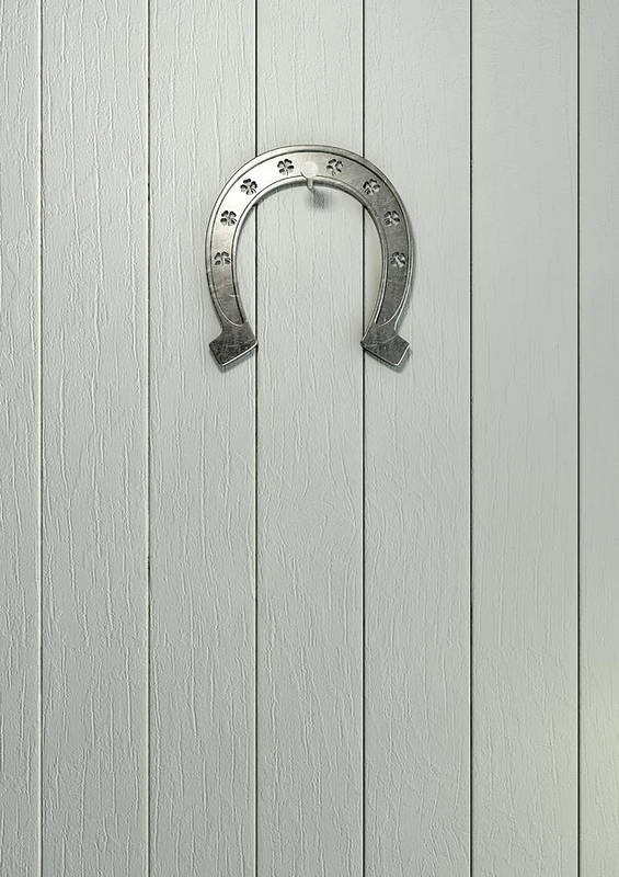 Luck Print featuring the digital art Lucky Horseshoe Entrance by Allan Swart