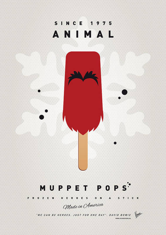 Muppets Print featuring the digital art My Muppet Ice Pop - Animal by Chungkong Art
