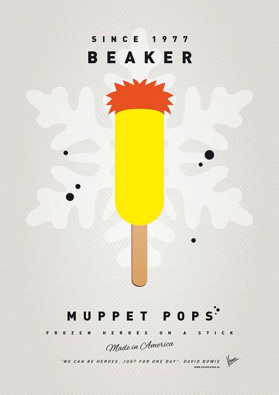 Muppets Print featuring the digital art My Muppet Ice Pop - Beaker by Chungkong Art