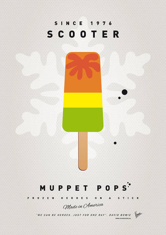 Muppets Print featuring the digital art My Muppet Ice Pop - Scooter by Chungkong Art