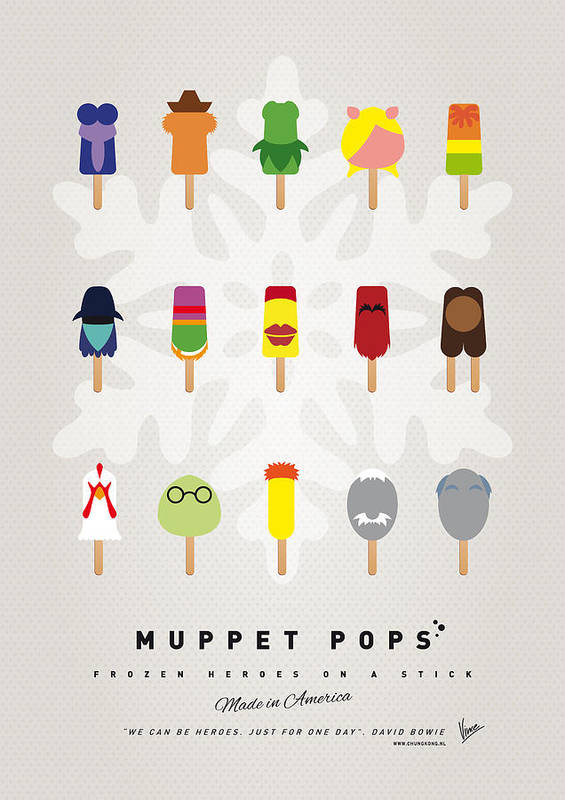 Muppets Print featuring the digital art My Muppet Ice Pop - Univers by Chungkong Art