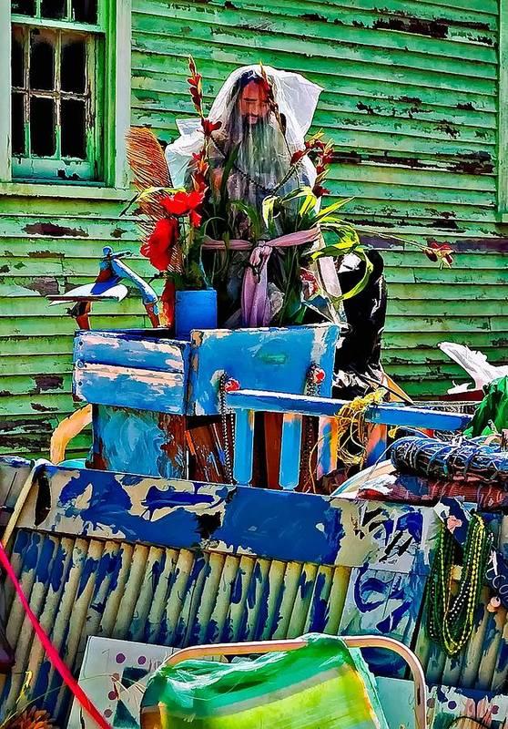 New Orleans Print featuring the photograph Plastic Jesus by Steve Harrington